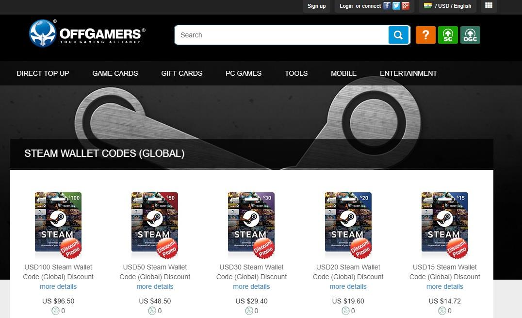 Buy steam wallet code global